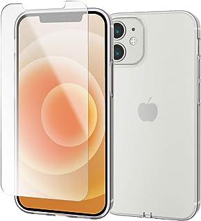【ケース・フィルムセット】 エレコム iPhone 12 mini ソフトケース Qi充電対応 極み ガラスフィルム付き クリア エレコム正規品 簡易パッケージ PMWA20AUCTCR