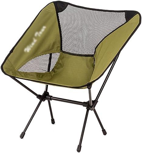 venta de ofertas Zs-zs001 Silla de Camping Plegable Plegable Plegable Luz Pesca portátil Silla de Playa Viaje al Aire Libre Bosquejar Asiento (Color   Ejercito verde)  más orden