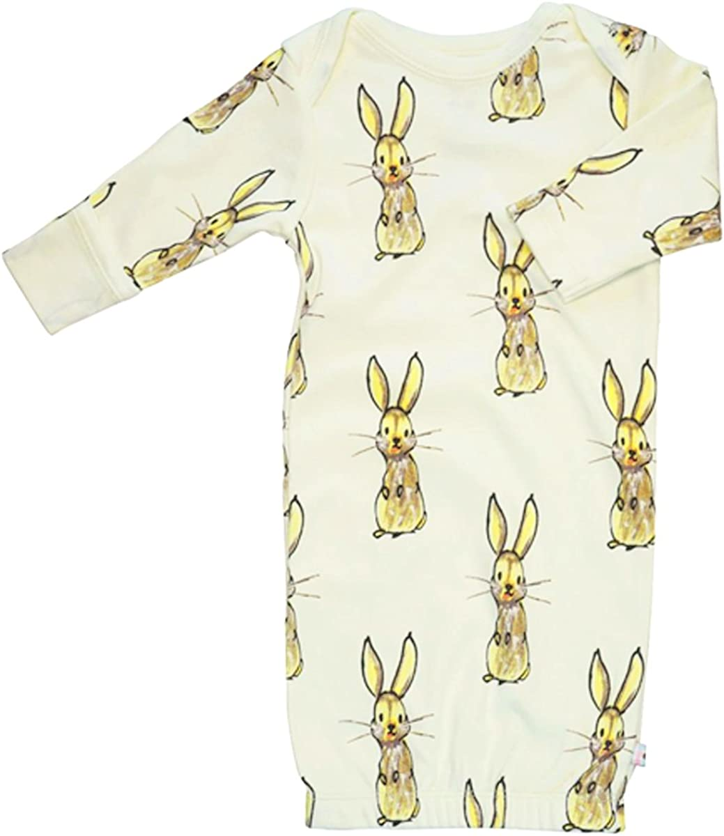 Babysoy Long Sleeve Baby Infant Animal Pattern Gown/Newborn Sleep sac with Mittens