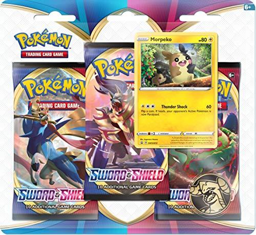 Preisvergleich Produktbild Pokemon POK80655-D12 TCG Schwert und Schild 3-Pack Booster (Einer zufällig ausgewählt)