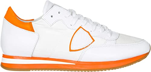 Philippe Model Tropez Hauszapatos Deportivas Hombre Neon blanco naranja