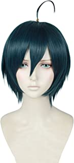 Cfalaicos Danganronpa V3 Saihara Shuichi Cosplay Wig Short Dark Green Styled Heat Resistant Synthetic Hair