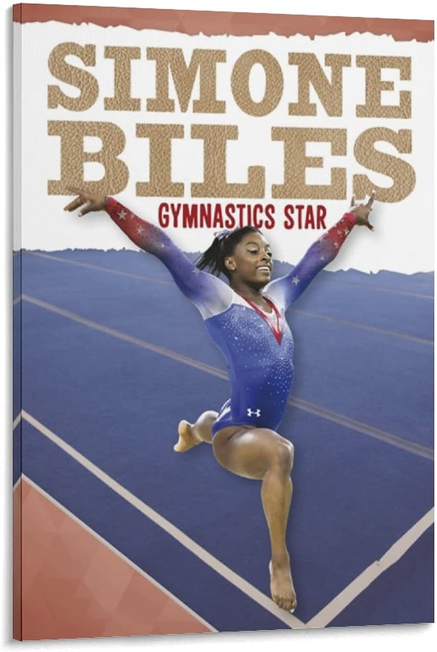KDRW Gymnastics Large special price !! Star Simone Biles Canvas Poster Wall Art sale