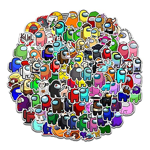LSPLSP / Paquete de Pegatinas de Graffiti Amongus para portátil, Motocicleta, monopatín, Ordenador, teléfono móvil, calcomanía DIY, Gran Oferta, Juego, 100 Uds.