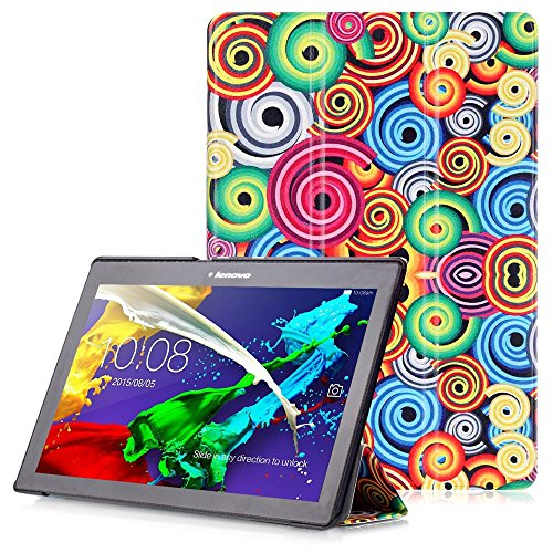 Lenovo Tab 2 A10 / Tab3 10 Plus / Tab3 10 Business Cover - Custodia con Funzione Auto Sveglia/Sonno per Lenovo Tab 2 A10-30 / A10-70 / Tab3 10 Plus / Tab3 10 Business 10.1' Tablet, Spirale Color