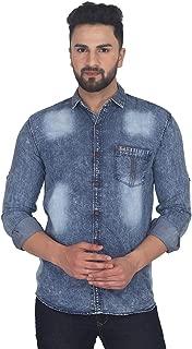 VATASO Mens CasualDenim Shirts Slim Fit.