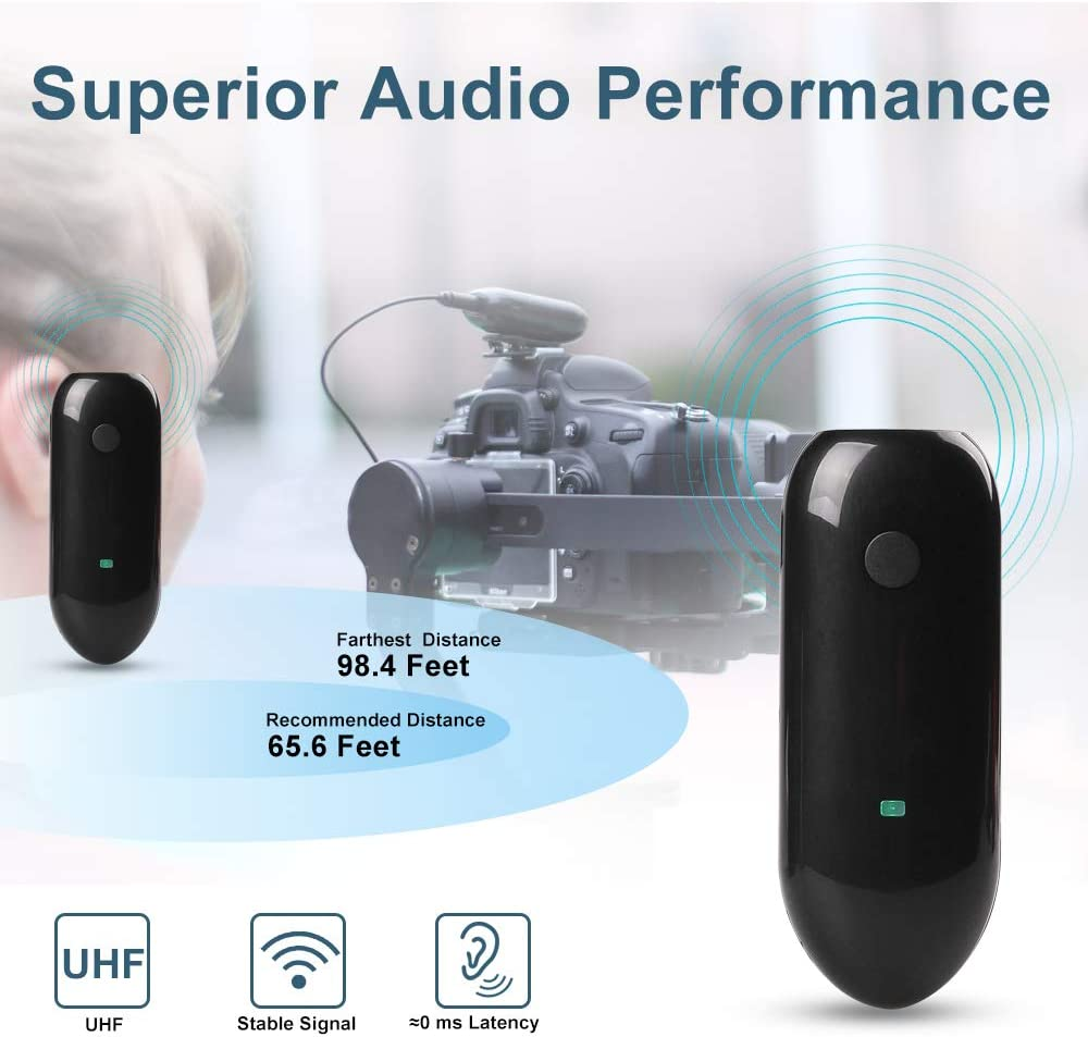 LENSGO LWM-318C Mini 20-Channel UHF Omnidirectional Wireless Lapel Mic for Android iPhone Smartphone Camcorder Canon Nikon Sony DSLR Camera Video Recording Wireless Lavalier Microphone System White
