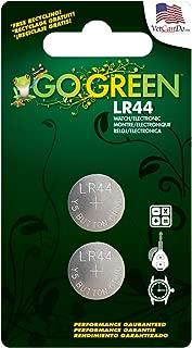 Go Green Power LR44 1.5V Button Cell Battery (2 Pack), Gray