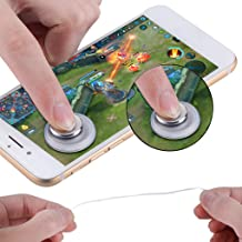 SJYDGQQ Q8PLUSRound Game Joystick Touch Screen Controller,Artifact Mobile Phone Game Controller to eat Chicken Auxiliary,for iPhone Android (Green)