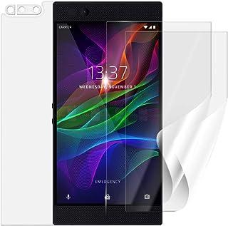 Skyddsfolie SCREENSHIELD för RAZER Phone RZ35-0215 [3 stycken, 2 versioner] – täcker skärmen och baksidan; vid användning ...