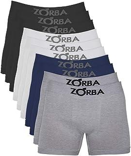 Kit com 10 Cuecas Zorba Boxer Algodão Sem Costura 781 Colorido