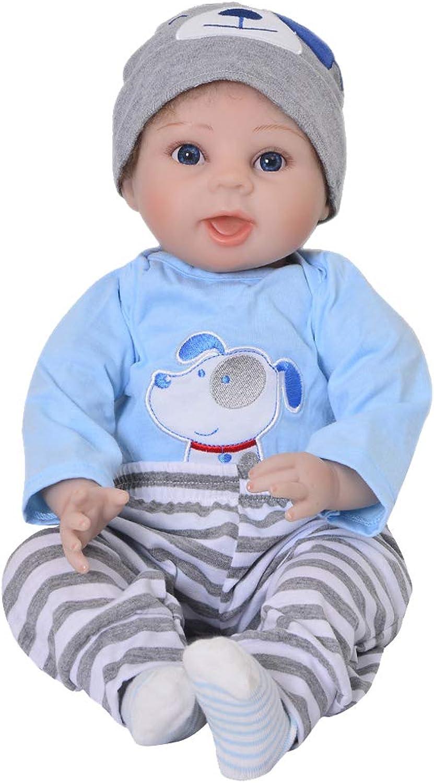 Prettyia 55m Soft Silicone Handcraft Newborn Baby Dolls Realistic Looking Reborn Doll Baby Toddler Kids Gift