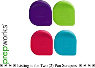 2 X Progressive International Colored Pan Scraper, 2 Piece, Color May Vary
