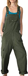 Lentta Women's Casual Loose Cargo Bib Overall Jumpsuits Harem Pants with Pockets