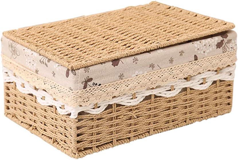 Basket Rattan Popular popular Storage Outstanding Desktop Debris Snack Box Fabric St