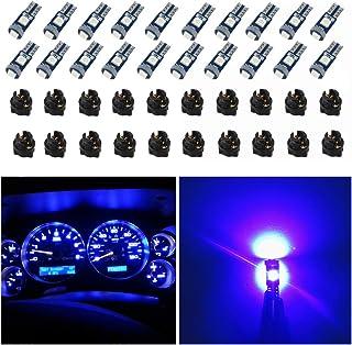 WLJH 74 Led Bulb Dash Lights Mini T5 2721 27 37 286 Wedge PC74 Twist Socket Automotive Instrument Panel Gauge Light Kits C...
