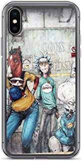 TEEDUYEN Compatible with iPhone 6/6s Case Pickle Rick Scientist Team Morty Rick Cartoon Art Pure Clear Phone Cases Cover