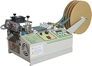 KUNHEWUHUA Automatic Belt Tape Cutter Machine for Elastic Band/Braided Strap/Leather/Zipper/Ribbon Hot & Cold Cutting Machine, 110v