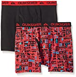 Quiksilver Little Boys' Boxer Brief, Mixed Print, X-Small/4/5 (Pack of 2)