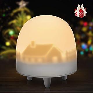 VOXON Luz Nocturna Infantil, Lámpara LED para Niños Recargable Luces LED Silicona, Brillo y Color Ajustable y Control Táctil, Regalo para Niños [Clase de eficiencia energética A+++]