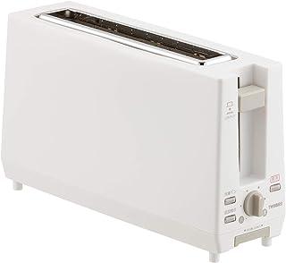 ツインバード ポップアップトースター スリム 11cm 2枚焼き 縦型 ホワイト TS-D404W