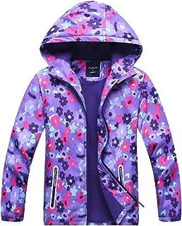 Welity Boys & Girls Rain Jackets Lightweight Waterproof Hooded Raincoats Windbreaker Coats