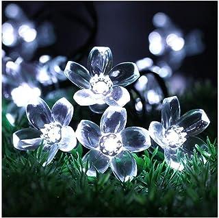 Led String Solar Lights 5m 7m 12m 22m Peach Flower Solar Lamp Power LED String Fairy Lights 6V Solar Garlands Garden Chris...