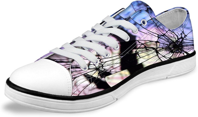 Micandle Fashion Uniqu Print Casual Canvas Low-Top shoes for Women Men