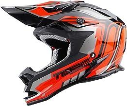 Sólido Casco De Motocross Casco De Rally De Carretera Carreras Al Aire Libre Casco De Bicicleta De Montaña Negro/Rojo Eficaz (Size : L)