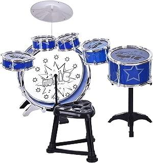 Vkarh Drum Kit 12-Piece Children Jazz Drum Set, Jazz Drum Instrument Set for Kids Musical Toy Birthday (Ship from US)