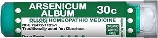 Ollois Organic & Lactose-Free Arsenicum Album 30C Pellets, 80 Count Homeopathic Medicine for Diarrhea