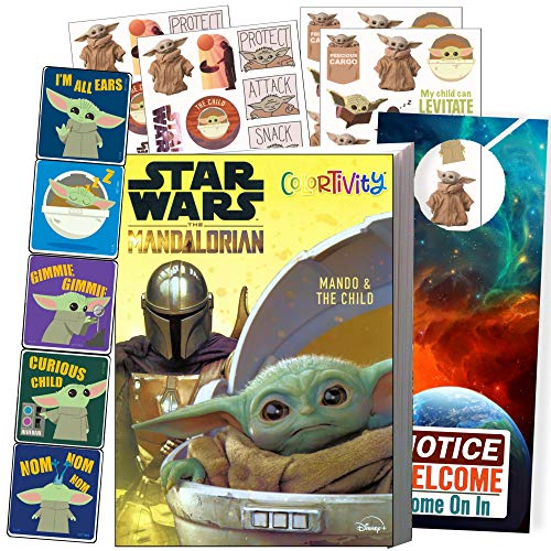 Disney Studios Star Wars Coloring Book and Stickers with Solar System Stickers