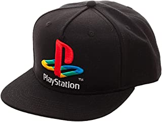 Sony Playstation Logo Snapback Hat,Black,8