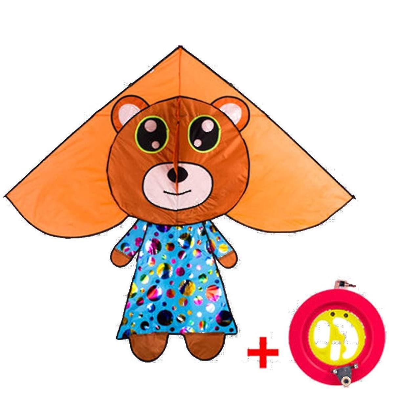 Kite,Flying Spring Toy Kite Children Fly Kites, Beginners Cartoon Triangle Kite (Two Colors) Kite line Wheel Puller Multi-Style Optional (Color : E)