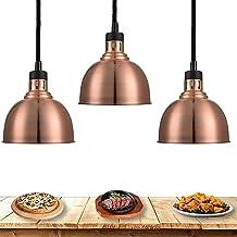 SZDYQ Lampe de Chaleur 3-Pack Food Warmer Cuisine Lumière de Cuisine Portable Portable Lampe chauffante avec Ampoule 250W,...