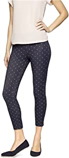 Women's Denim Legging (Medium 8-10, Dark Denim/Polka Dot)