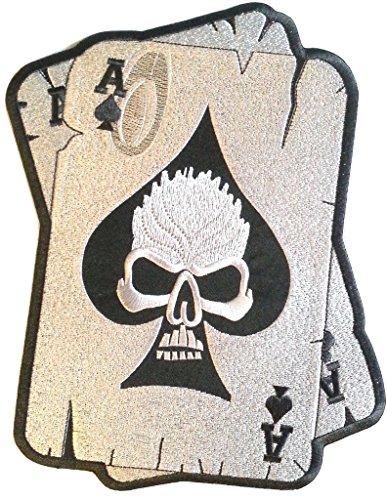 b2see Iron on Bügel Aufnäher Patches Bügelbilder Aufbügler Flicken Applikation Kleidung Biker Skull Ass 10 cm