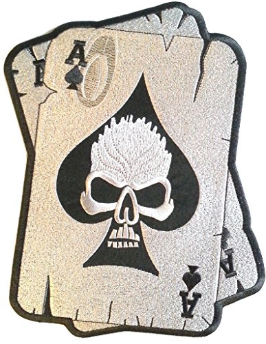 b2see Iron on Bügel Aufnäher Patches Bügelbilder Aufbügler Flicken Applikation Kleidung Biker Skull Ass 10 cm