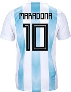 adidas Maradona #10 Argentina Official Youth Home Soccer Jersey World Cup Russia 2018
