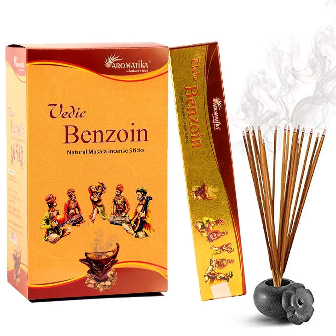 乞食大破うぬぼれaromatika Benzoin 15?gms Masala Incense Sticks Pack of 12