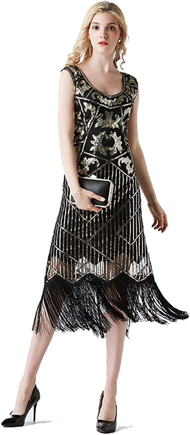 Spring And Summer 920 Retro Sequin Dress European And American Sequin Evening Dress New Long Slim Evening Dress