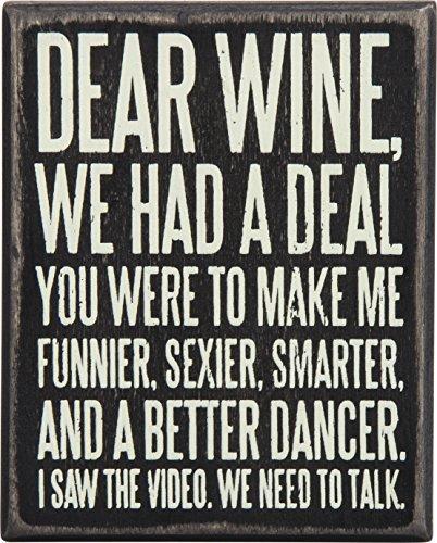 wood wine signs - 1