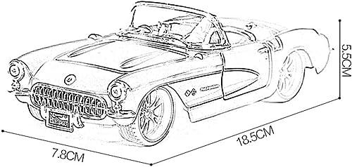 JIANPING Auto modell auto 1 24 simulation legierung druckguss spielzeug ornamente 1957 Corvette klassische sportwagen sammlung schmuck 18,5x7,8x5,5 CM Modellauto (Farbe   Blau)