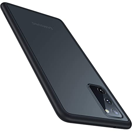 TORRAS Shockproof Compatible for Samsung Galaxy S20 Case 6.2 Inch, [Military Grade Drop Tested] Translucent Matte Hard Back with Soft Edge Slim Case Compatible for Samsung S20 Case, Matte Black