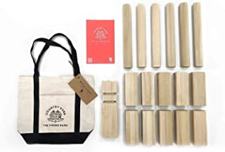 Country Kubb Classic Outdoor Backyard Game Set - Viking Lawn Game for Summertime Fun, Tailgating, Camping, Outdoor Parties, BBQs, Picnics, Beach Days