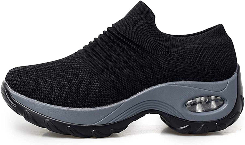 Btrada Women Platform Sneakers Wedges Casual Female Trainers Comfortable Height Increasing Women shoes