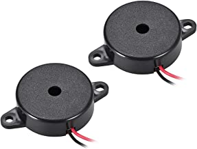 uxcell 2 Pcs DC 12V Active Electronic Buzzer Alarm Sounder Continuous 80dB Beep Speaker