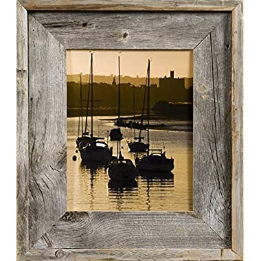 MyBarnWoodFrames - Lighthouse Series Reclaimed Barn Wood 8x10  Picture Frame (2.75 Inch Wide Frame)