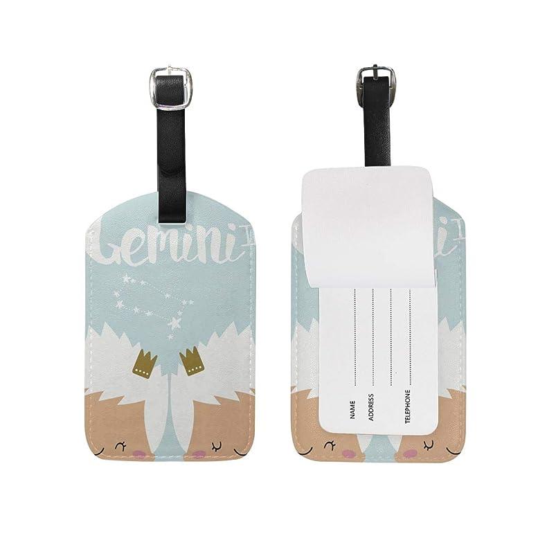 弾丸統治可能エンティティふたご座(双子座) Gemini(ジェミニ) 荷物タグ ネームタグ かわいい 旅行タグ 高級Puレ ラゲージタグ バッグ用ネームタグ 出張用タグ スーツケースタグ 大 プレゼント 紛失防止