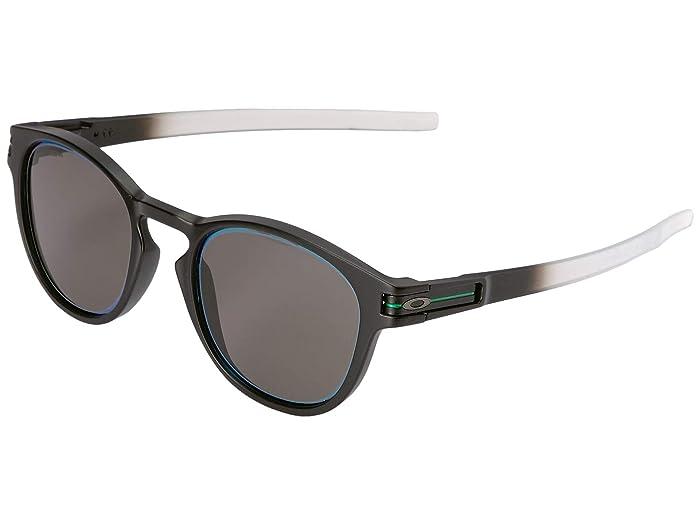 Oakley Borderline Latch Collection (Matte Black Fade w/ Prizm Grey Jade Alt Iridium) Sport Sunglasses